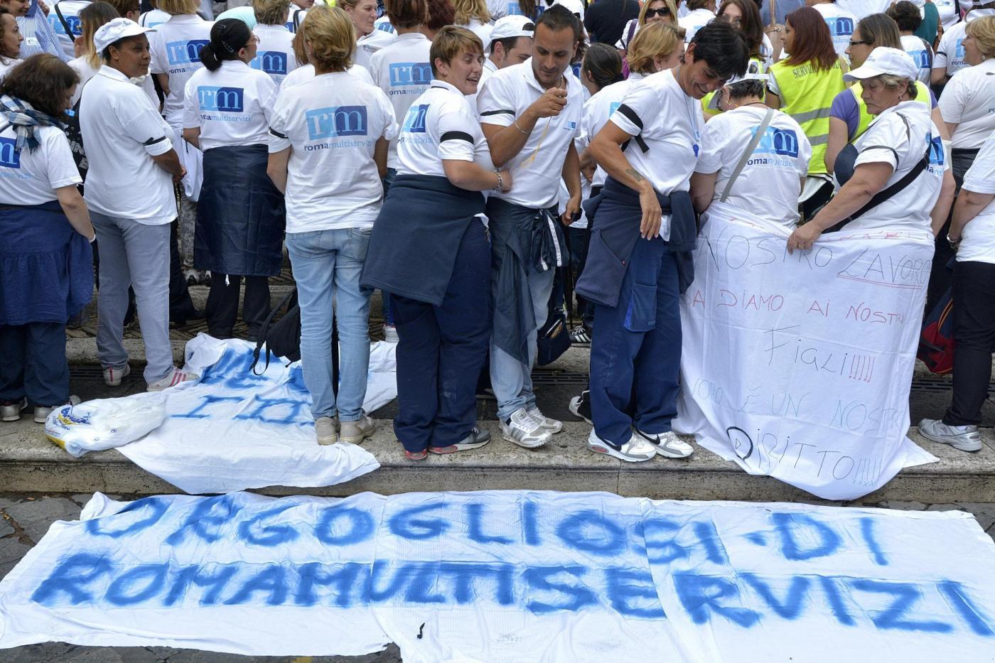 Multiservizi da oggi presidio dei lavoratori in piazza for Piazza montecitorio 12