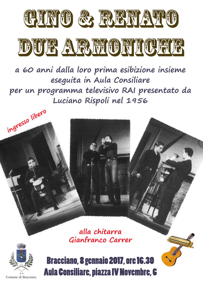 Gino e Renato: due armoniche in concerto nell'aula consiliare di Bracciano