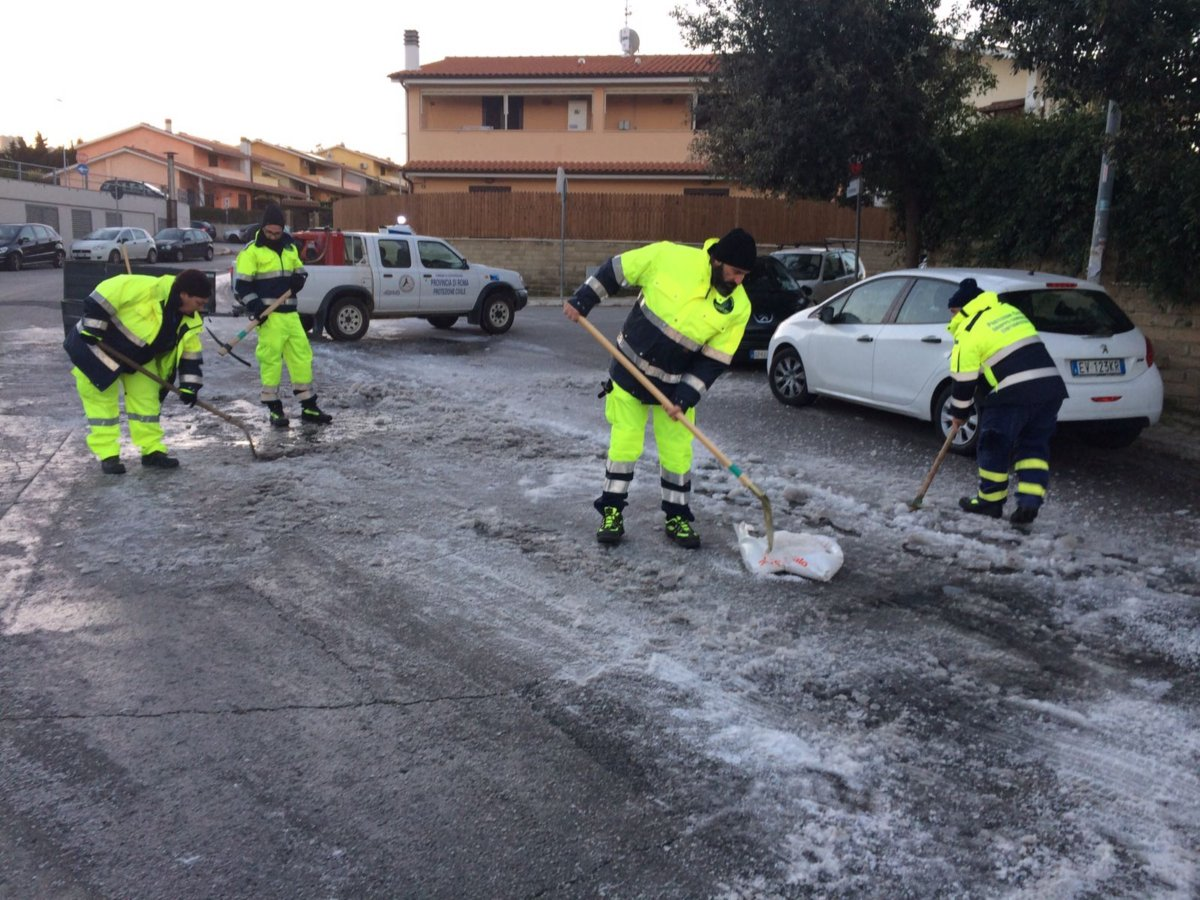 Pericolo ghiaccio sulle strade