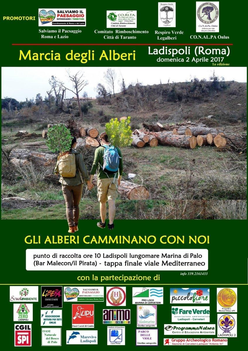 A Ladispoli il 2 aprile la Marcia degli alberi