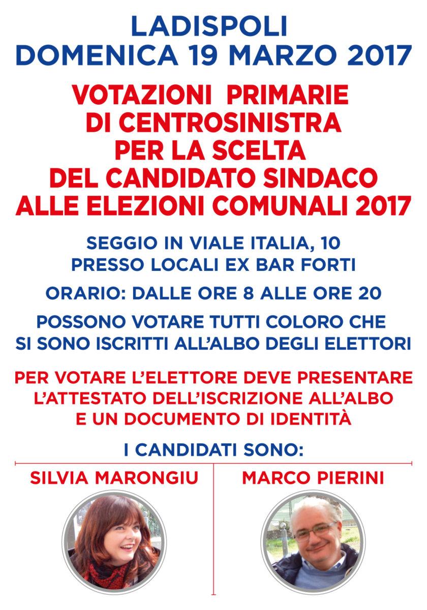 """PD Ladispoli: """"Primarie del centrosinistra in dirittura di arrivo, si vota domenica 19 marzo"""""""
