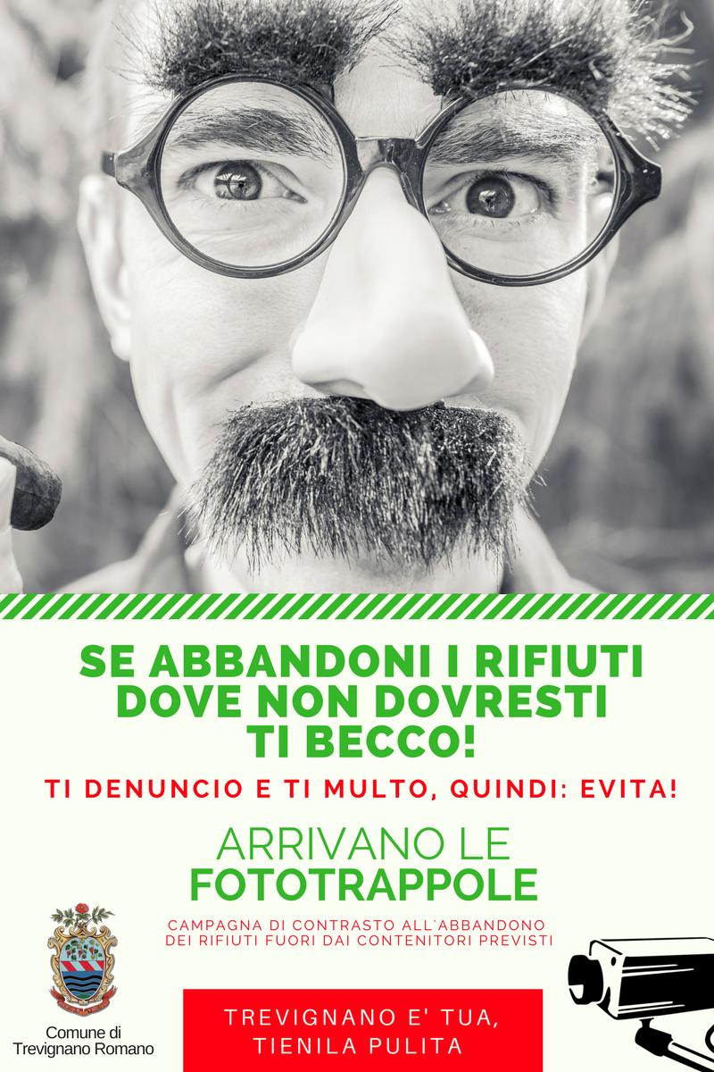 Trevignano Romano: arrivano le fototrappole contro l'abbandono di rifiuti