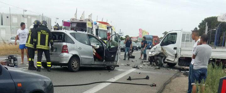 Ladispoli, gravissimo incidente sull'Aurelia nei pressi di Carabetta