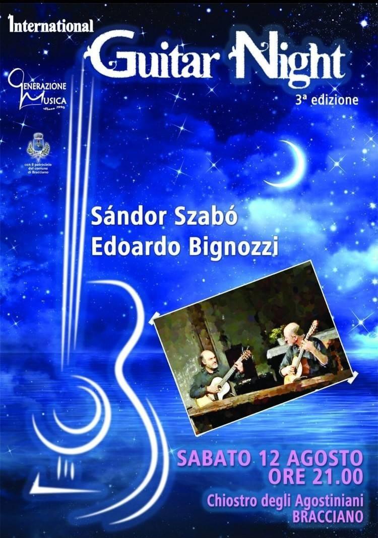 """Sabato a Bracciano terza edizione di """"International Guitar Night"""""""