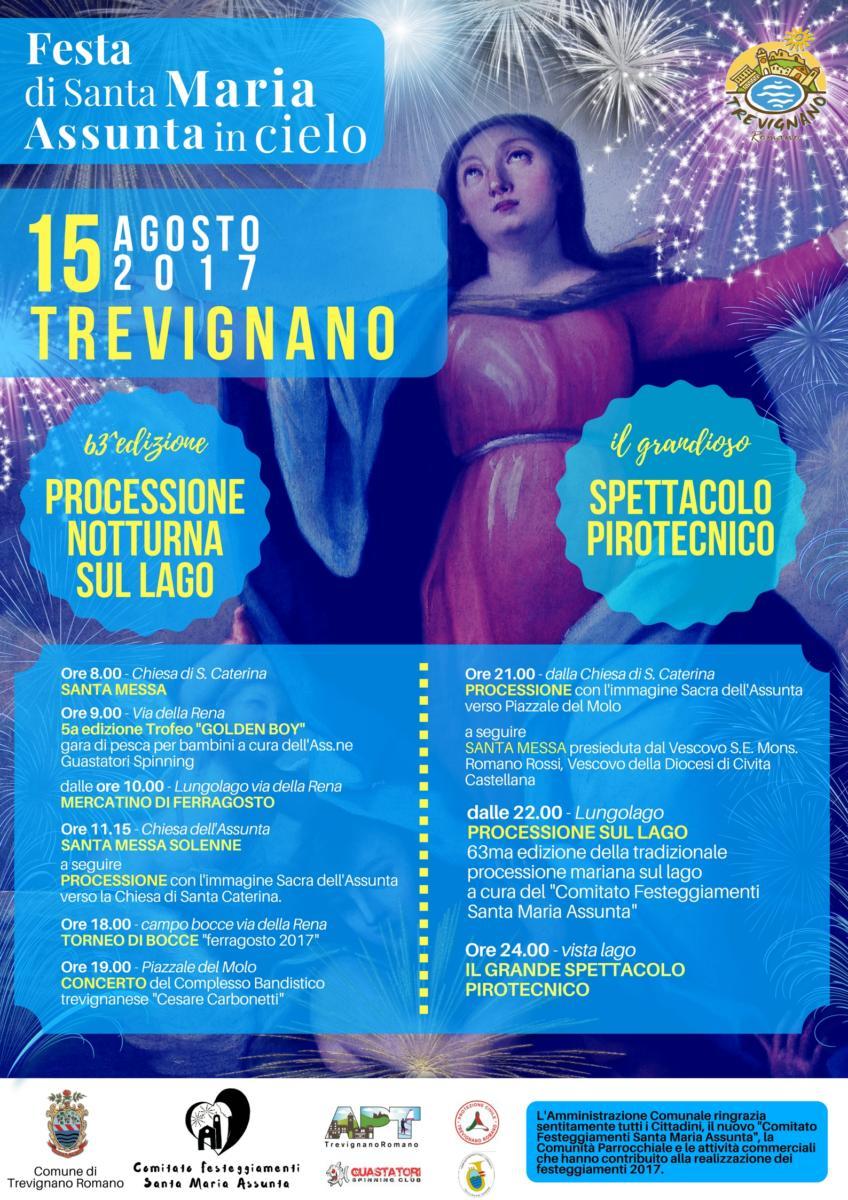 Ferragosto 2017 a Trevignano, si rinnova la tradizione con la processione sul lago in onore dell'Assunta