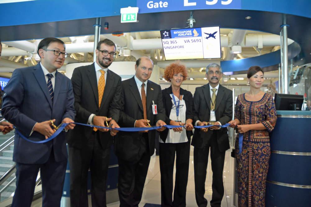 Singapore Airlines festeggia l'arrivo dell'Airbus A350-900 a Fiumicino