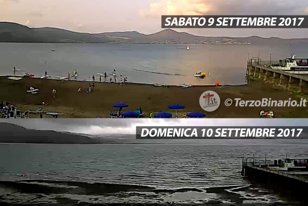 Risale il Lago di Bracciano: oltre 8 cm di pioggia caduti in mattinata