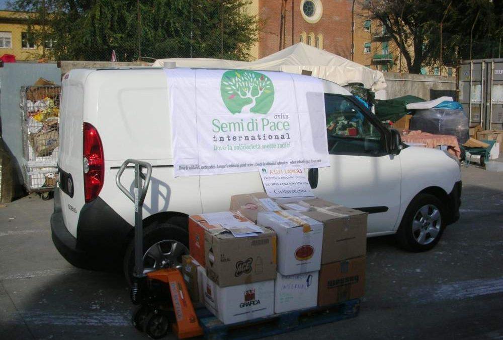 Tarquinia, Semi di Pace: consegnati alla Caritas i donativi per Livorno