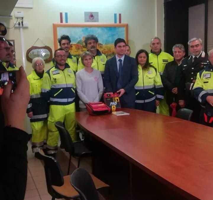 Ladispoli, consegnato da Apaim un defibrillatore alla Protezione Civile