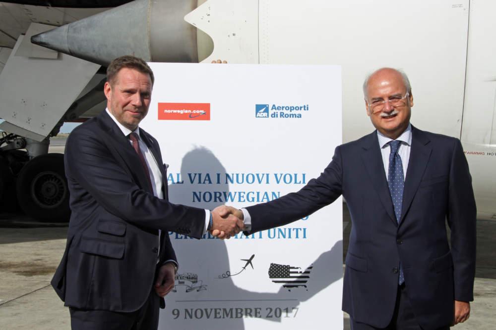 Norwegian inaugura oggi i nuovi voli intercontinentali low-cost da Roma Fiumicino agli Stati Uniti