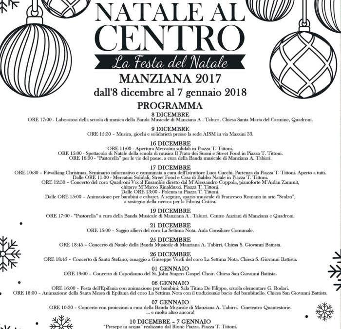 Manziana, da domani al via il cartellone di eventi per il Natale