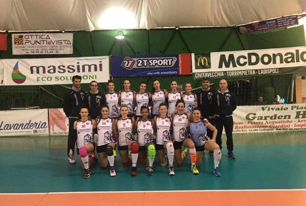 Volley Ladispoli, Massimi Eco Soluzioni sconfitta al tie break dal Volleyrò