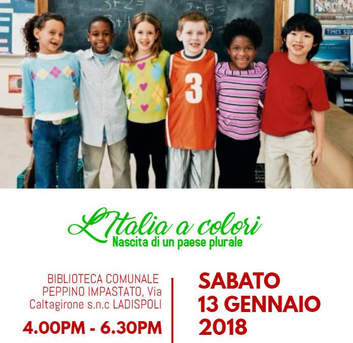 """Ladispoli, sabato convegno """"L'Italia a Colori"""" alla Impastato"""