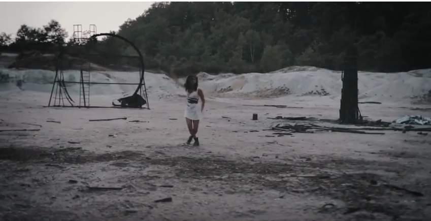 La caldara di Manziana set delle riprese di un video musicale
