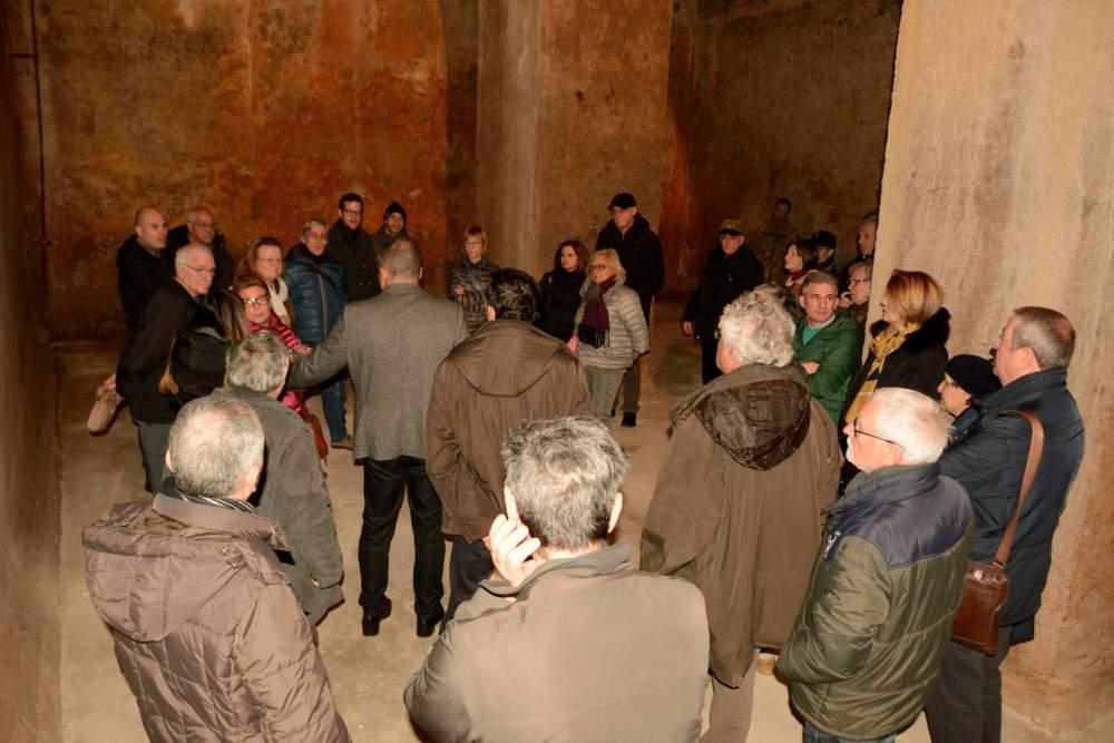Società storica civitavecchiese, successo per la visita alle cisterne romane del CESIVA
