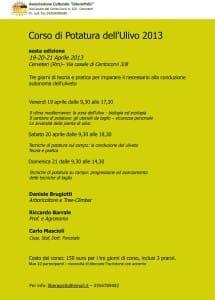 locandina potatura ulivo 2013
