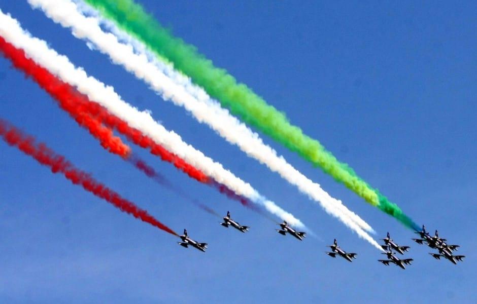 Le Frecce Tricolori arrivano sul lago di Bracciano
