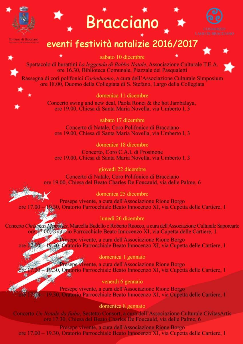 Eventi Di Natale.Eventi Di Natale A Bracciano Ecco Il Calendario Terzo