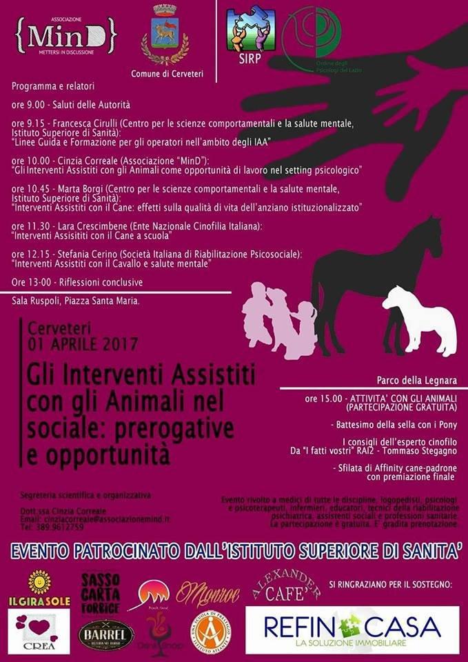 Cerveteri, salute: domani giornata formativa sulle opportunità degli Interventi Assistiti con gli Animali