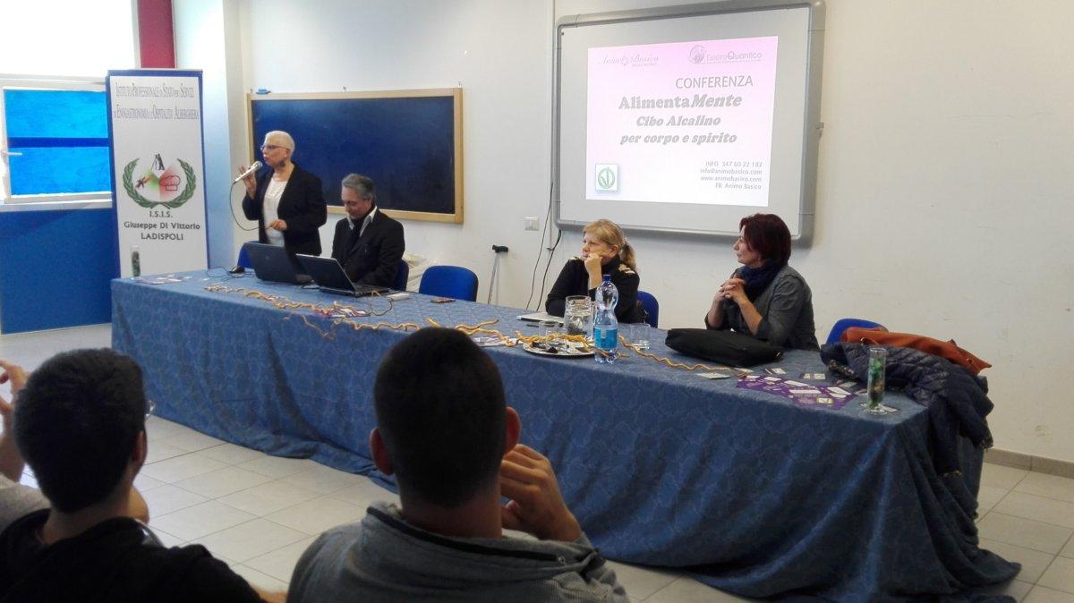 Alberghiero Ladispoli al Convegno AlimentaMente sulla dieta alcalina