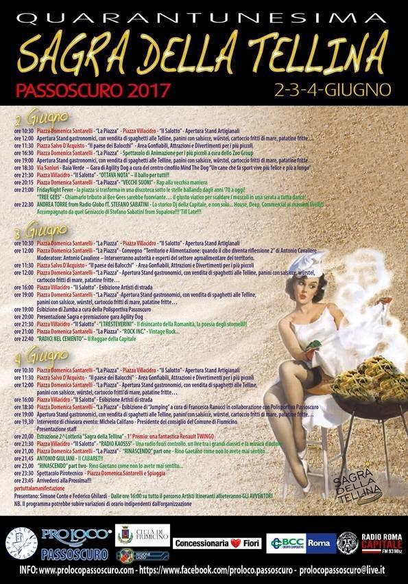 """Passoscuro, Magionesi: """"Dal 2 al 4 giugno torna la sagra della tellina"""""""