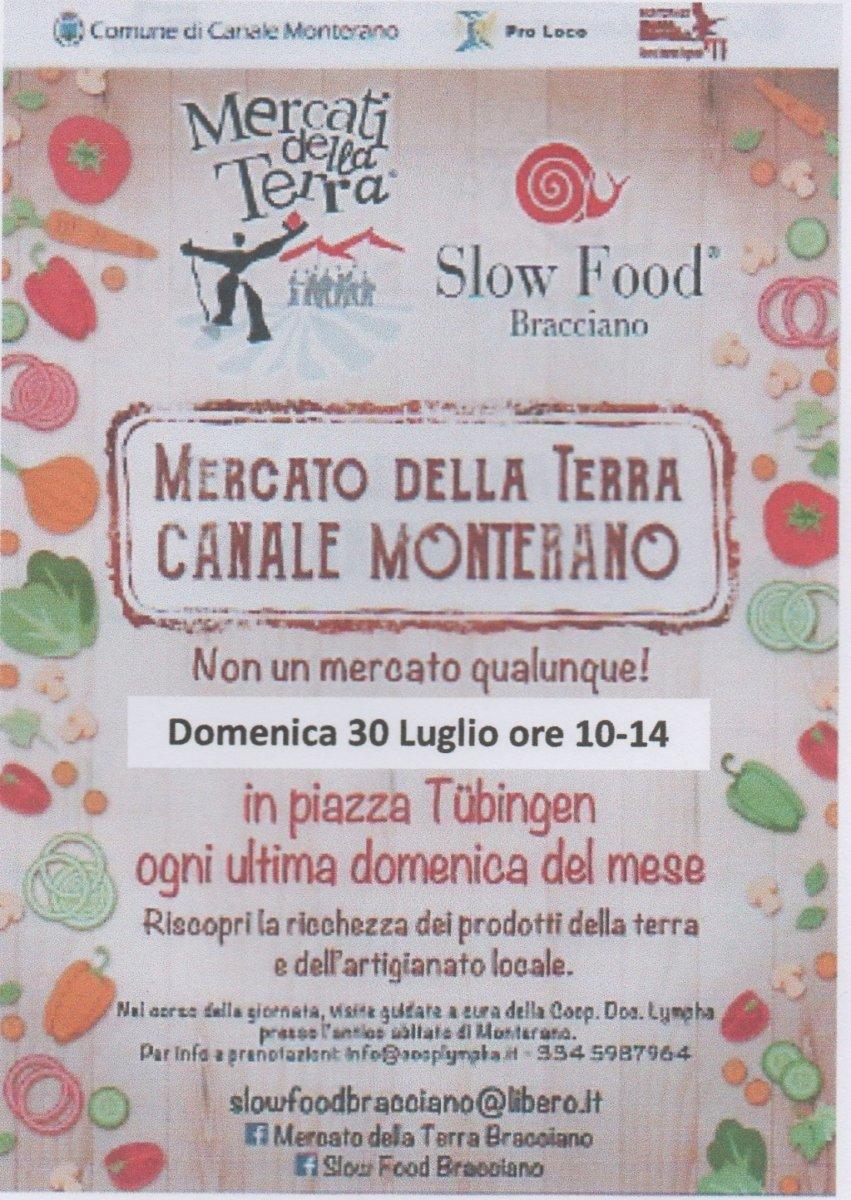 Canale Monterano, domenica il quarto appuntamento con il Mercato della Terra