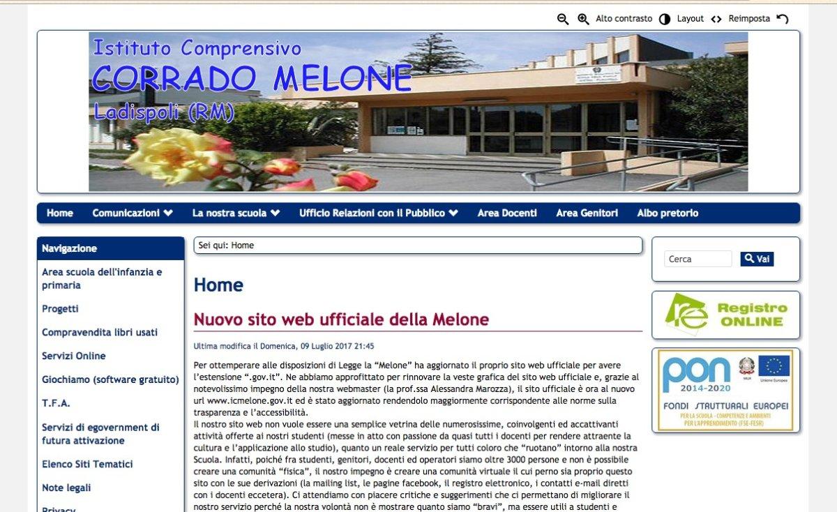 Un nuovo sito web per la corrado melone di ladispoli for Sito web per la progettazione di mobili