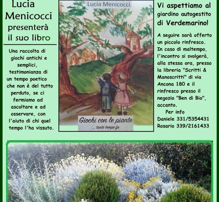 """Ladispoli, Lucia Menicocci presenta """"Giochi con le piante … tanto tempo fa"""""""