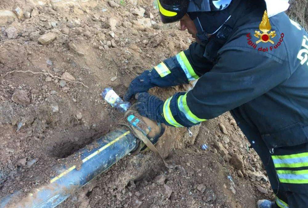 Cerreto: fuga di gas durante uno scavo per lavori