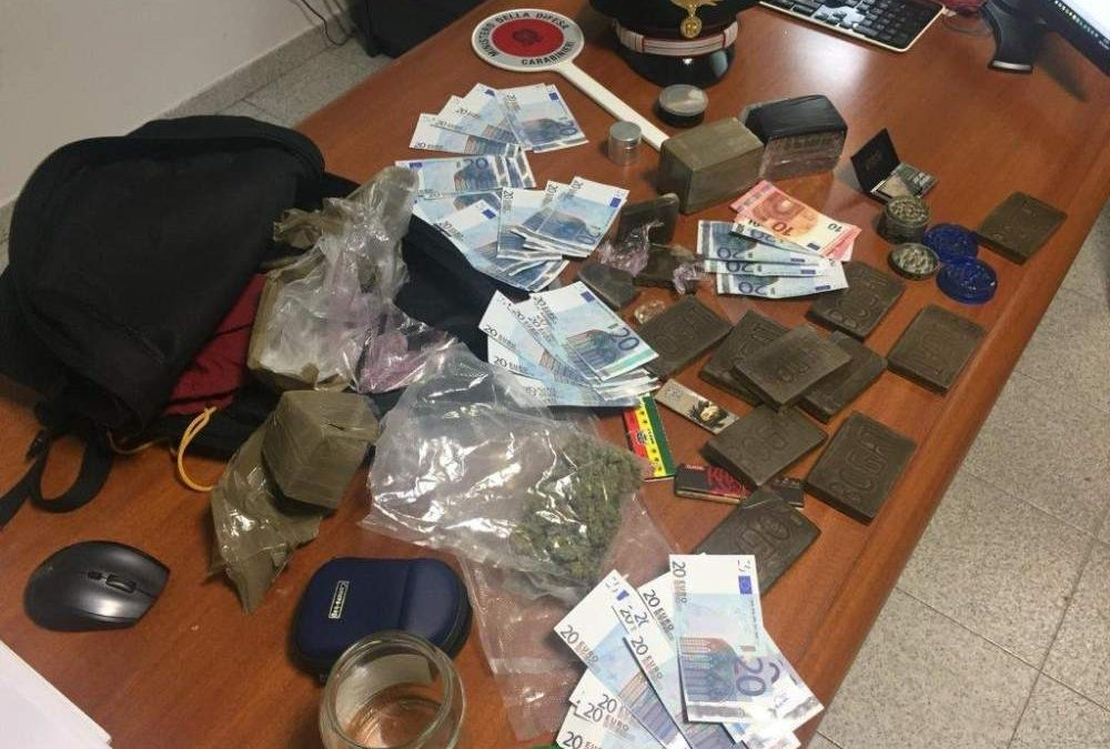 Tarquinia, operazione antidroga dei Carabinieri: due arresti