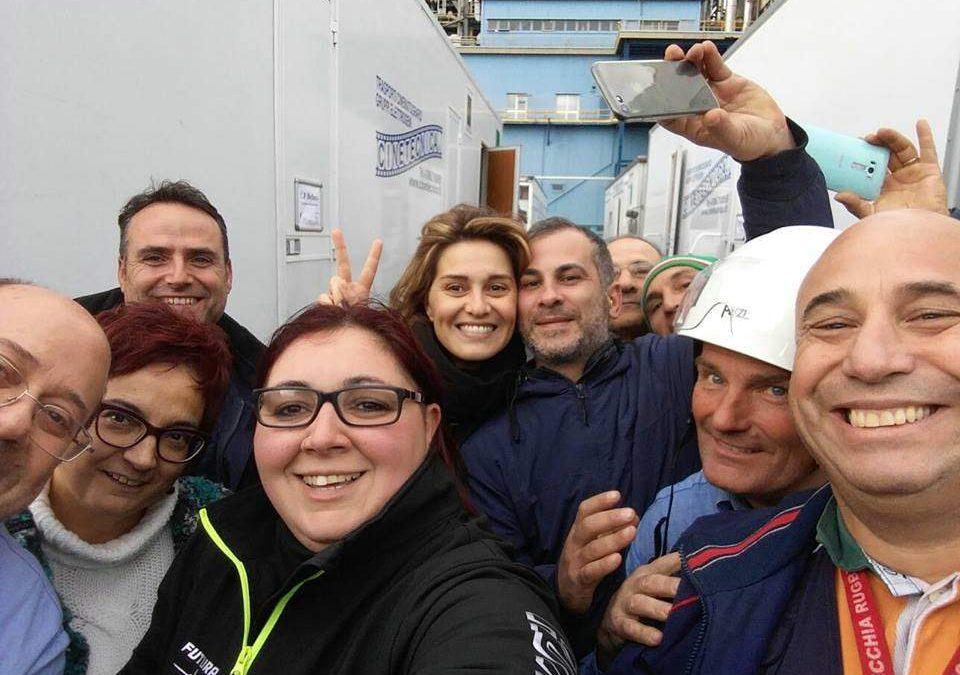 Civitavecchia, Paola Cortellesi gira un film a Torre Valdaliga Nord