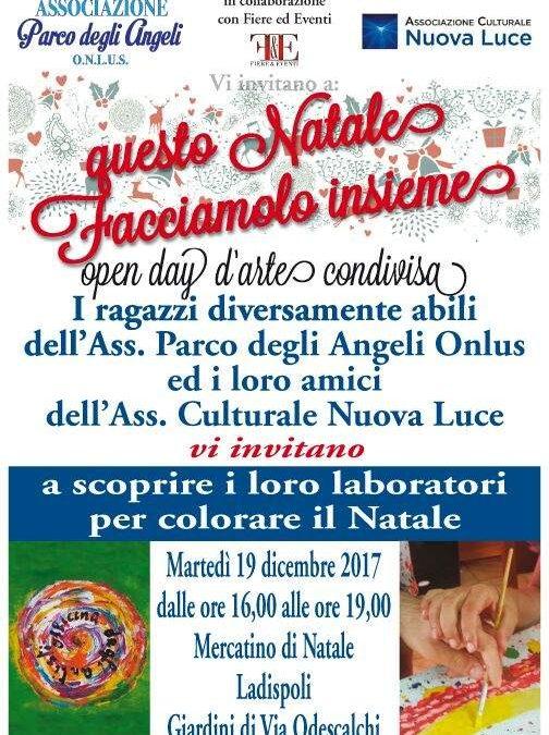 """Ladispoli, Parco degli Angeli: """"Questo Natale facciamolo insieme"""""""