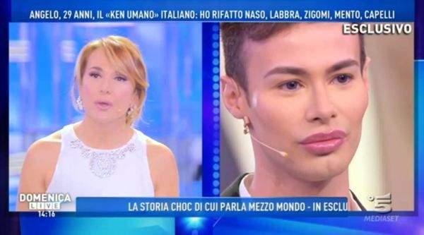 """Civitavecchia, Angelo Sanzio il """"Ken italiano"""" attaccato a Domenica Live di Barbara D'Urso"""