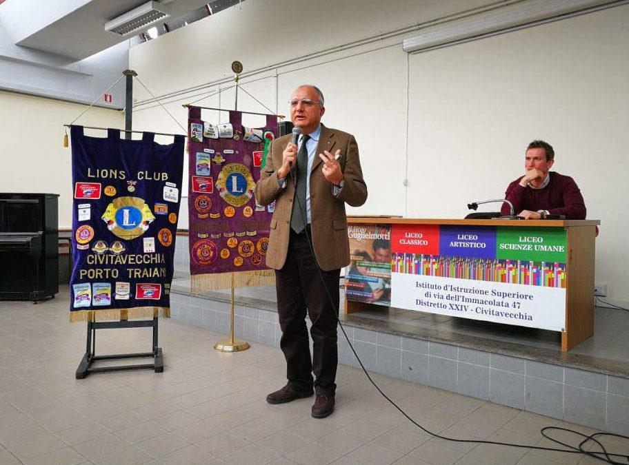Anche a Civitavecchia i Lions parlano di prevenzione agli studenti