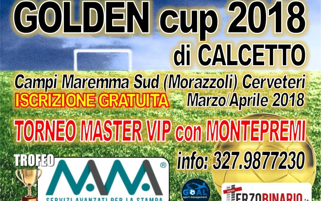 Golden Cup, iscrizioni gratuite al torneo di calcio a 5 del Maremma Sud