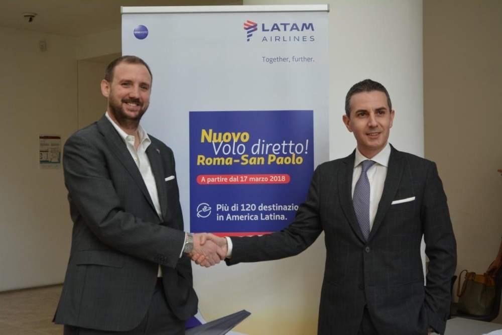 Adr per Fiumicino lancia il volo Latam da Roma a San Paolo del Brasile