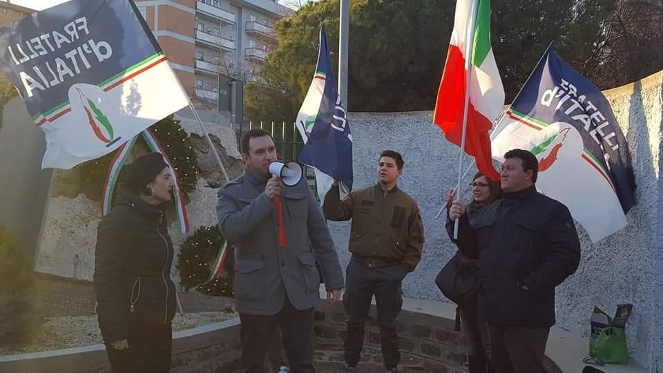 Civitavecchia, Fdi commemora i Martiri delle Foibe al parco dell'Uliveto