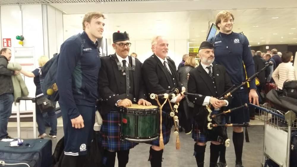 6Nazioni, cornamuse per la Scozia da Adr a Fiumicino