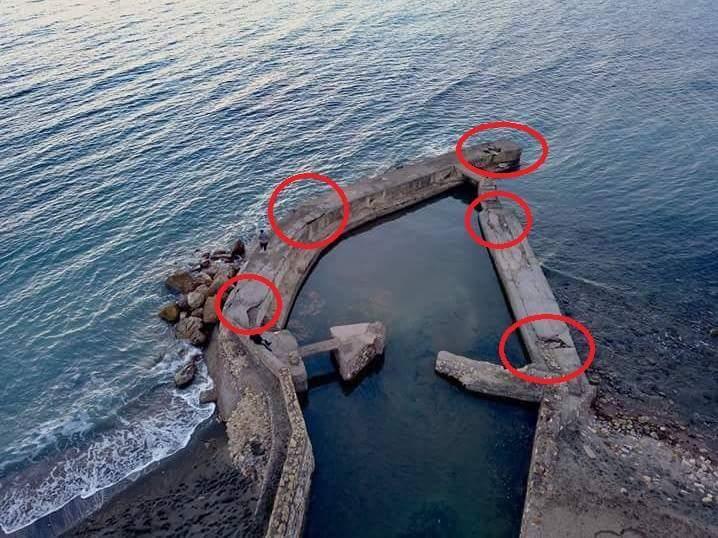 Tarquinia, al Lido voragine alla Foce di Ponente: pericolo di caduta