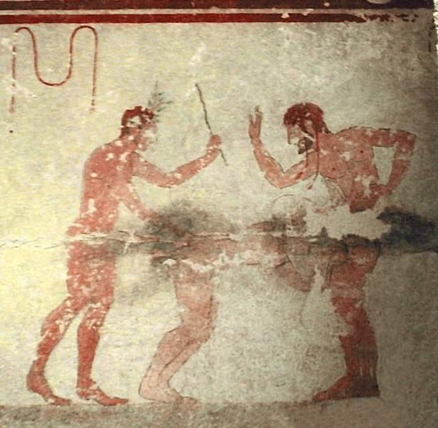 Sesso spinto nelle tombe etrusche di Tarquinia