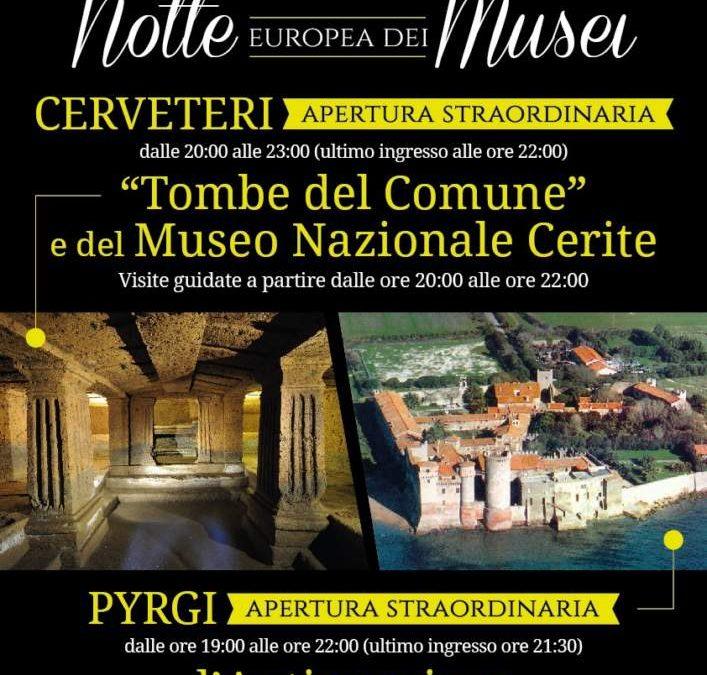 Cerveteri, è la Notte Europea dei Musei