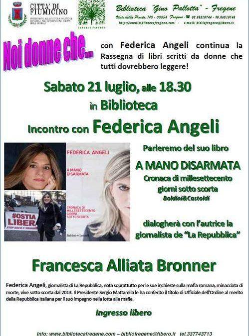 Fregene, Federica Angeli presenta il suo libro