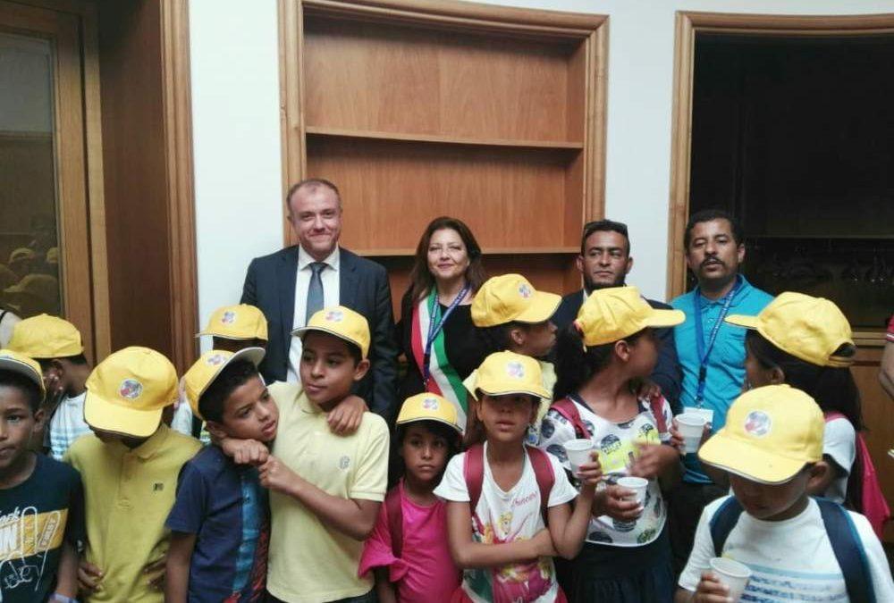 Città Metro, i bimbi del Saharawi in visita a palazzo Valentini