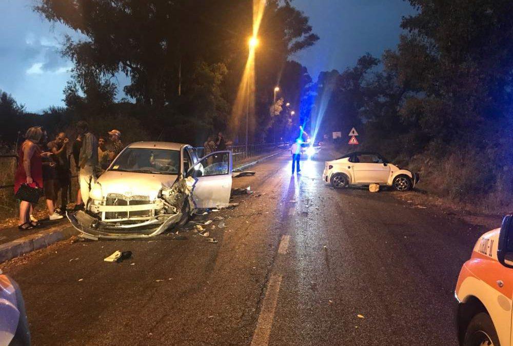 Civitavecchia, incidente frontale a Pantano: feriti i conducenti dei veicoli coinvolti