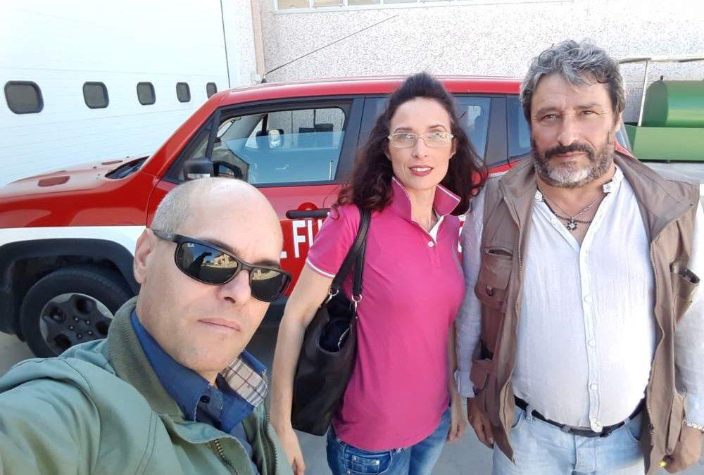 Tarquinia, Ceccarini e Sacripanti in visita dai Vigili del Fuoco