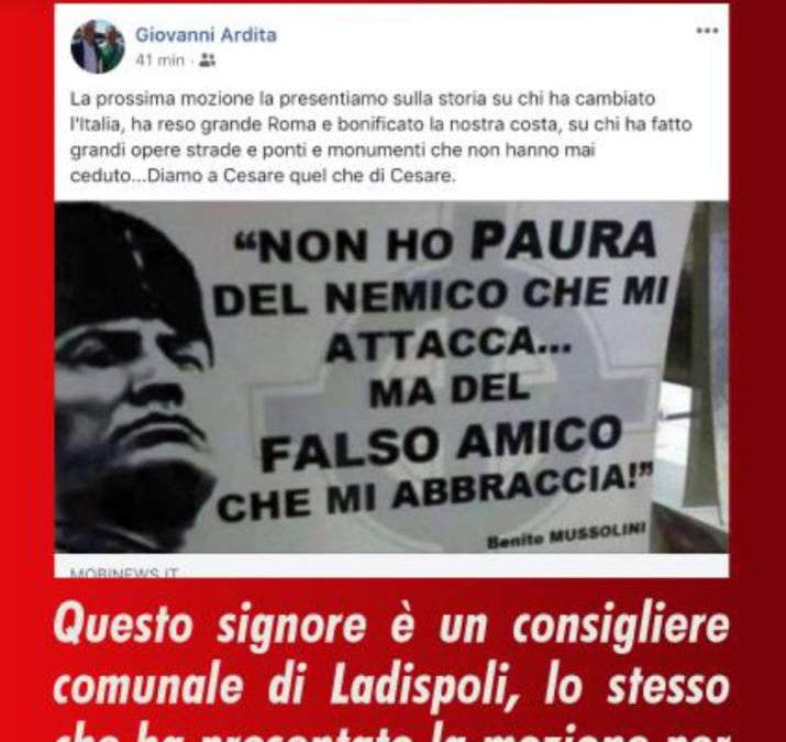 """Piazza a Mussolini, Anpi Ladispoli – Cerveteri : """"Una provocazione inaccettabile in sfregio alla Costituzione"""""""