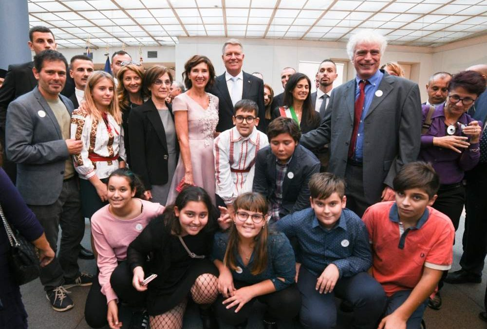 I ragazzi della Melone di Ladispoli incontrano il presidente della Romania