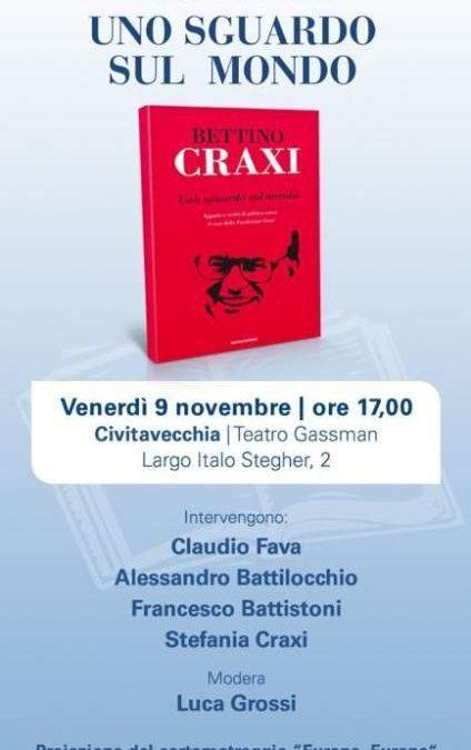 Civitavecchia, domani presentazione del libro di Craxi con ospite la figlia Stefania