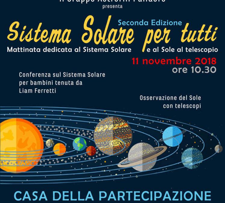 Incontro del Gruppo Astrofili Palidoro alla scoperta del Sistema Solare