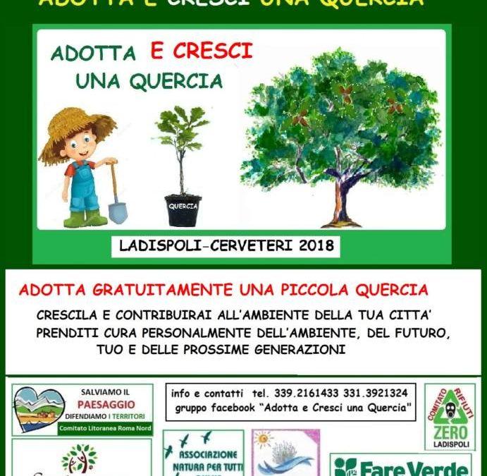 Adotta e cresci una quercia, per un futuro più verde a Ladispoli